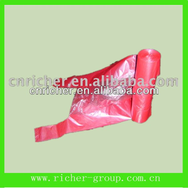machine make disposable garbage/trash/rubbish plastic bags on roll