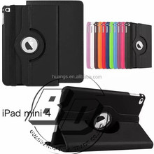 New Arrival Popular 360 Degree Rotating PU Leather Tablet case for iPad mini 4 For iPad mini 4 tablet case lowest price