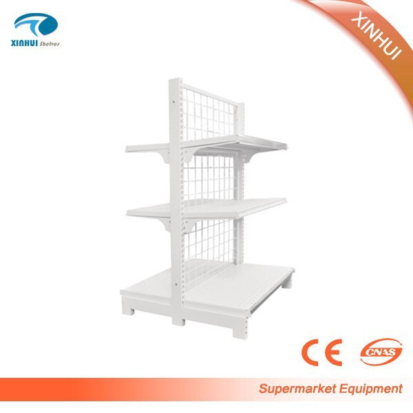 Hot-sale metal wire mesh steel lighted supermarket gondola shelf