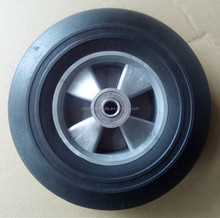 10 inch rubber solid wheel trolley wheel with high quality and factory price