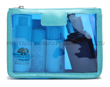 hot selling new designer pvc promotional cosmetic bag, transparent pvc ladies travel toiletry bag with zipper