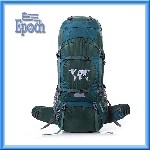 Custom well made map pattern hiking backpack, ODM and OEM orders are welcome