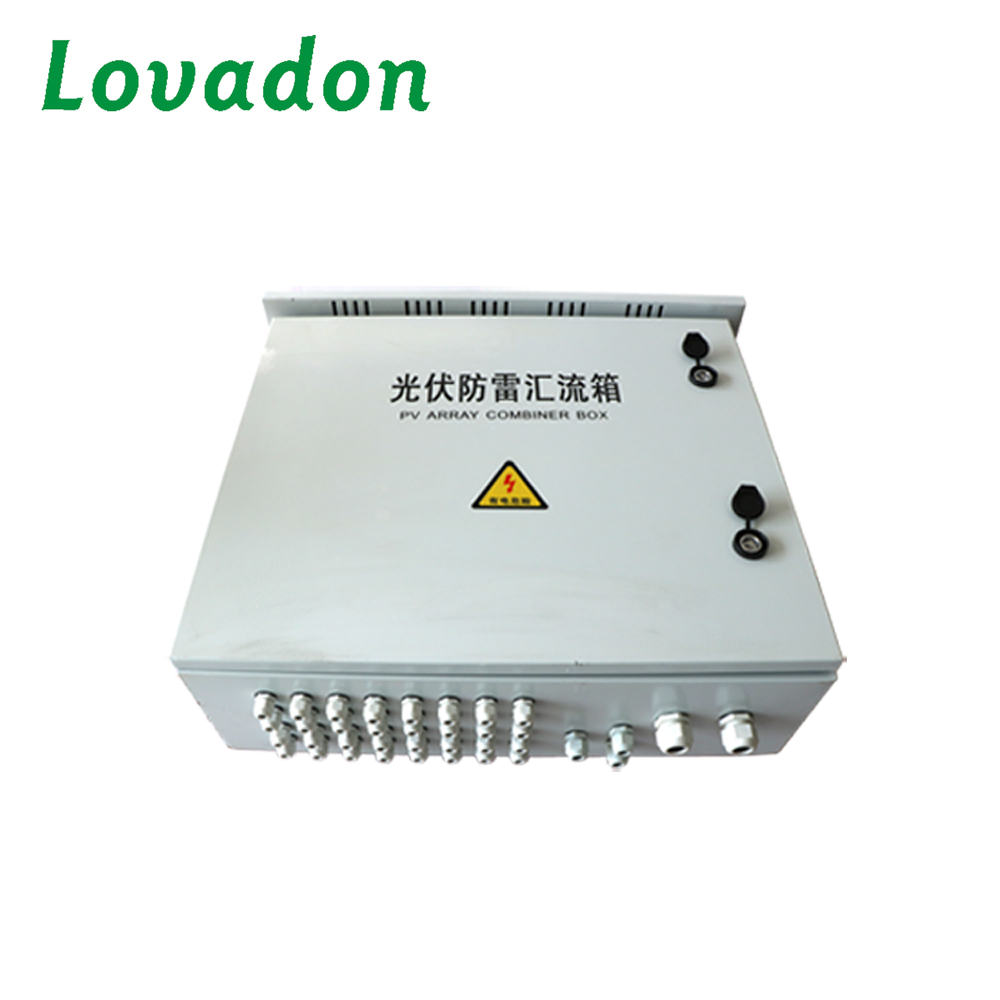 Hot sale intelligent pv street lighting pole fuse Junction box 12 Channel waterproof pv solar system DC combiner box