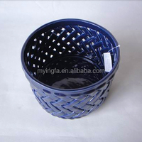 ceramic round bread basket for home decoration