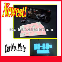 New fashion LED Car Plate ,LED Car Panel glow in the dark