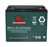 battery 6-dzm-20 sakura electric bike battery scooter with battery 12v 20ah BPE12-20