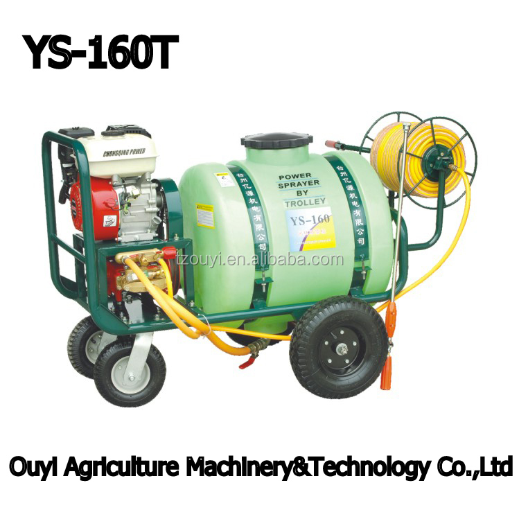 Hot Sale!!! POWERGEN Gasoline Engine 6.5HP Long Range Spraying Gun Mobile Orchard Fruit Tree Garden Sprayer 160L