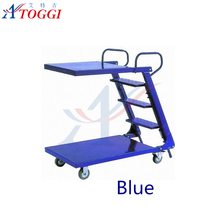 folding iron easy strore step ladders with handrails