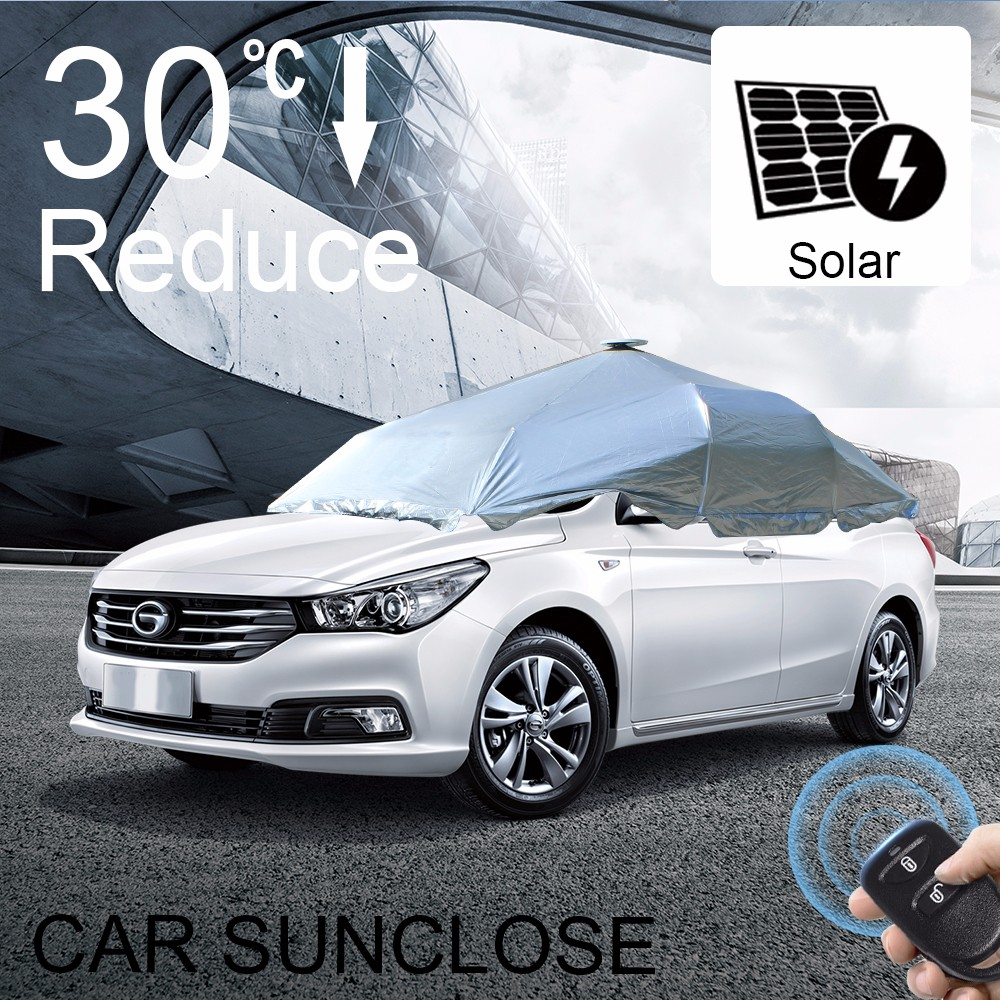 SUNCLOSE latest fashion car cover for rain protection plastic car cover smart car parking system project