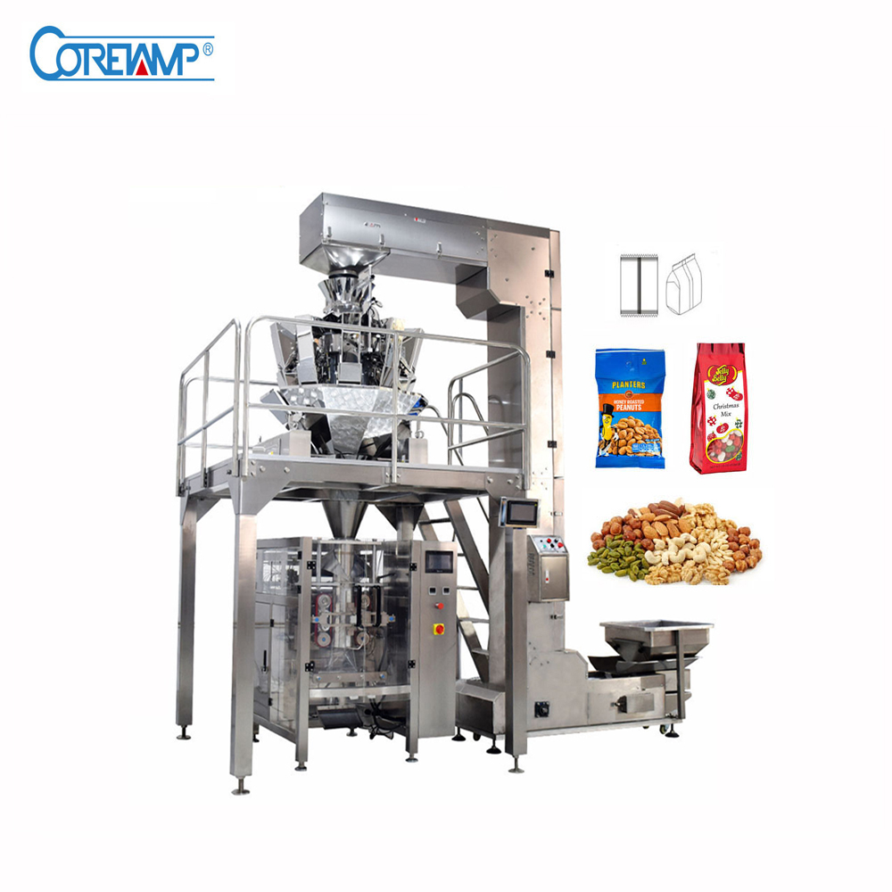 Full Automatic Packaging Machine for Snacks/Nuts/Cookies/Roasted Peanuts