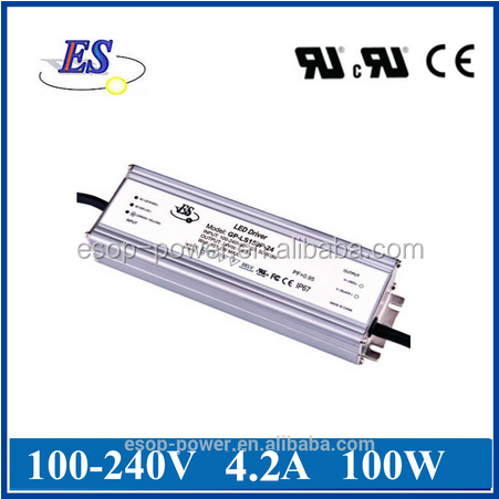 100W 4200mA 24V Constant Current / Voltage LED Driver Power Supply with UL CUL CE IP67