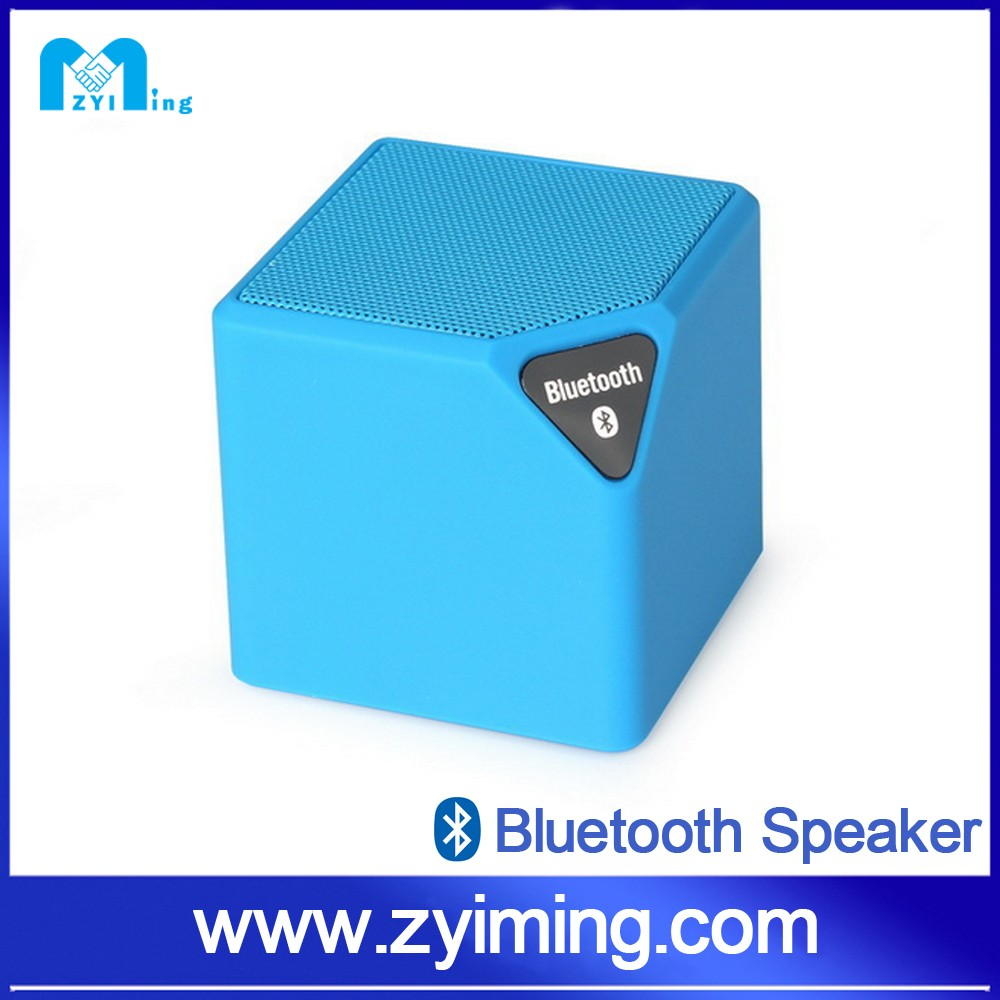 Zyiming hot sell water cube music mini wireless bluetooth speaker with lanyard