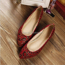 HFR-T0039 large size wholesale leopard fashion 2014 women flat latest shoes