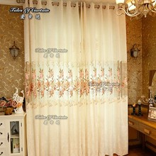 Latest designs of curtains with beautifull flowers and ice woolwork fabric