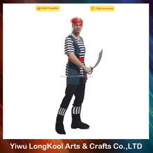 Newest design high quality custom made adult pirate cosplay costume for halloween