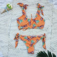 Latest Stylish Naughty Summer Bathing Suits Swimming Wear Floral Print Elastane American Size Bikini Halter Sexy Swimwear 2018