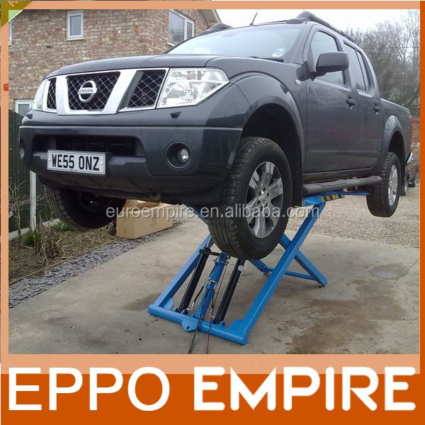 Car lift equipment safe 2800kg/6000lb pneumatic car lift outdoor