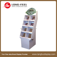 Latest promotional books cardboard display pedestals