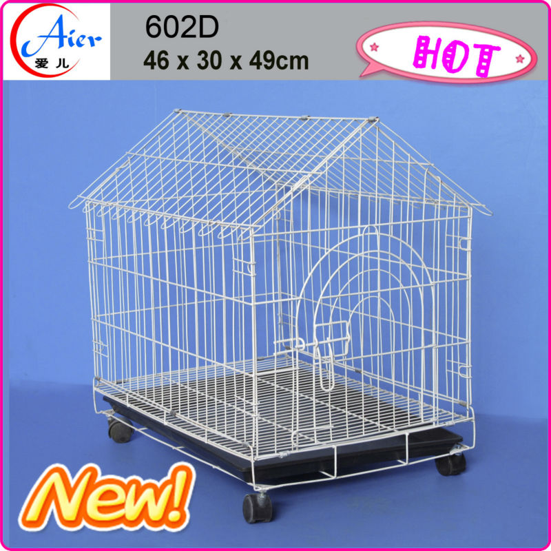 supply pet folding dog cage with wheel