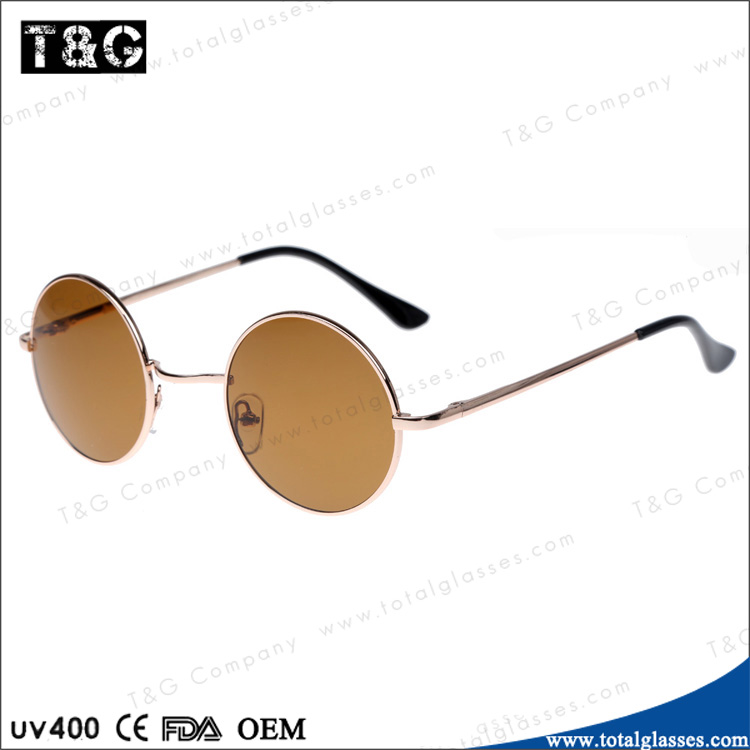Italian 2014 new designer sunglasses for women round metal frame China wholesale sun glasses