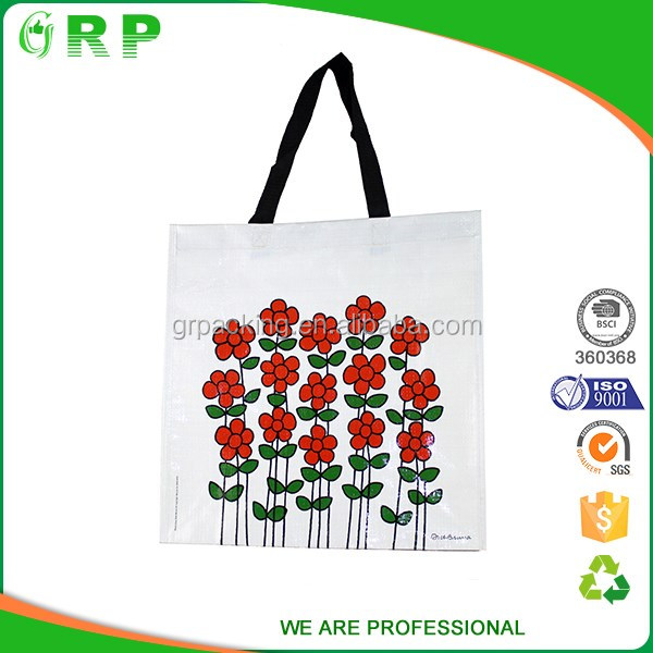 Fashionable female shopping use custom printed canvas tote bags