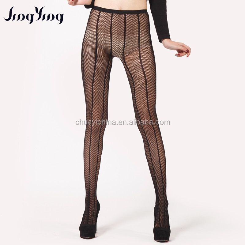 Pantyhose for women black color sheer tube fishnet tight stocking