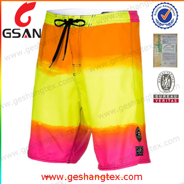 Men waterproof polyester microfiber board shorts