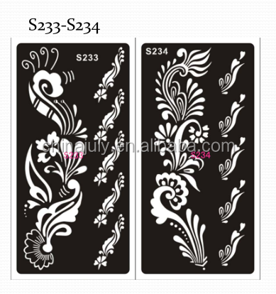 yiwu tatoo stencils reusable body tattoo sticker for tattoo painting