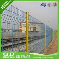 Hot selling v folds pvc coated welded wire mesh fence with low price