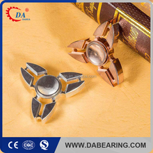 2017 hot sales EDC spinner brass fidget spinner metal spinner toy with chrome steel bearing R188
