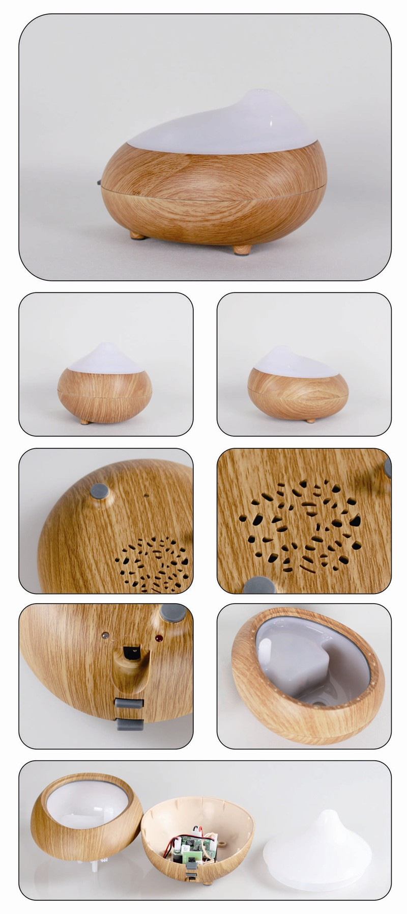 ultrasonic humidifier essential oil fragrance painting aromatherapy diffuser GX-05K wood grain