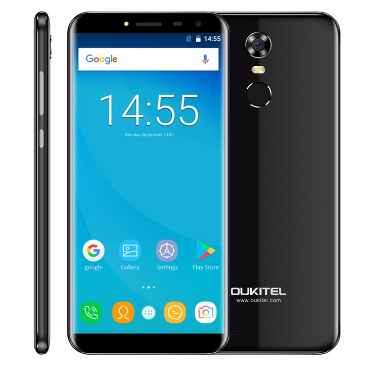 Oukitel C8 5.5 inch HD 18:9 Infinity Display Android 7.0 Smart Phone MTK6580 Quad Core Fingerprint Mobile Phone