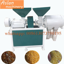 commercial use size adjustable corn grits making machine / factory price corn maize milling machine