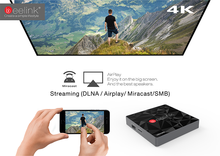 Beelink GT1 Ultimate 3Gb DDR4 32Gb eMMC Android 6.0 TV Box Amlogic S912