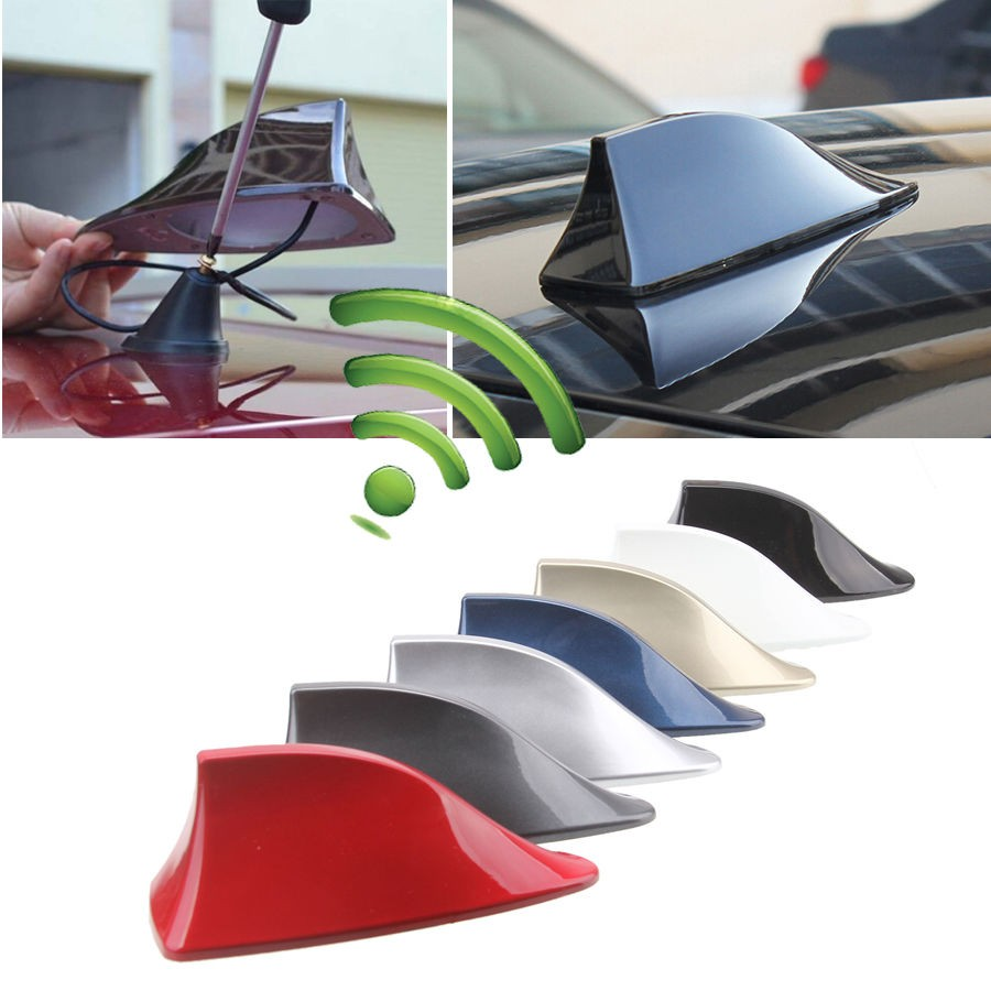 Car Roof Shark Fin Antenna Auto Radio FM Signal Amplifier Aerial Universal For all car