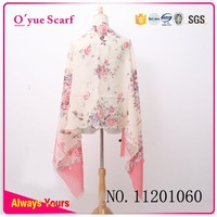 Make Flower Print Winter Wear Wool Shawl