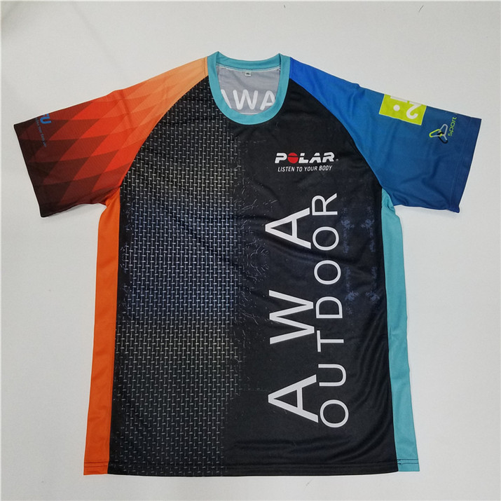 Wholesale comfortable colorful custom new design your sublimation shirts running clothes
