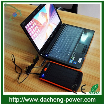 Super high capacity 23000mAH solar charger with ac wall socket for laptop