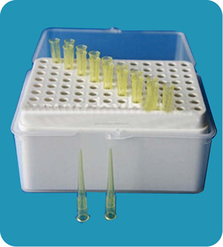 white color plastic pipette tips box
