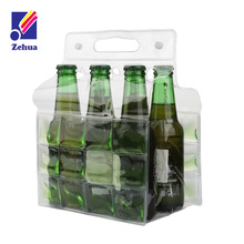 Food grade plastic 6pack cooler bag for beer or wine