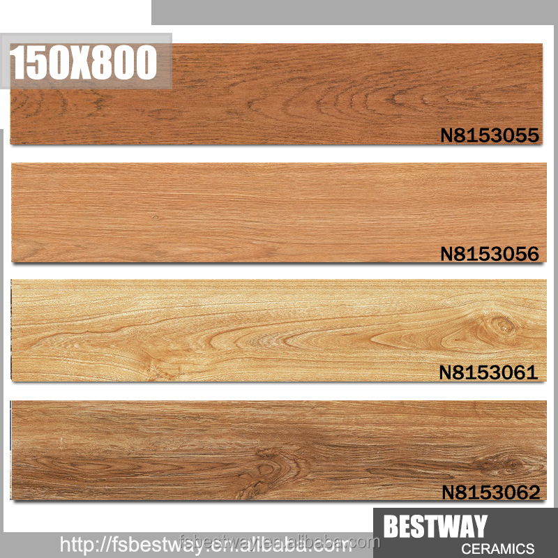 New Design wood look ceramic tile interior used with low price