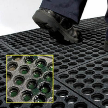 Durable anti-slip marine sticky Rubber Anti-fatigue Drainage Mat