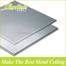 595*595 Modern acoustic aluminum suspended metal roof tile