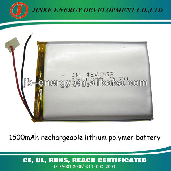 7 inch android tablet replace battery 3.7v 1500mah li-ion polymer batteries 484868