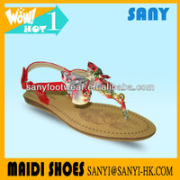 New Model Cheap Fashion China factory Lady Sandals With Bow