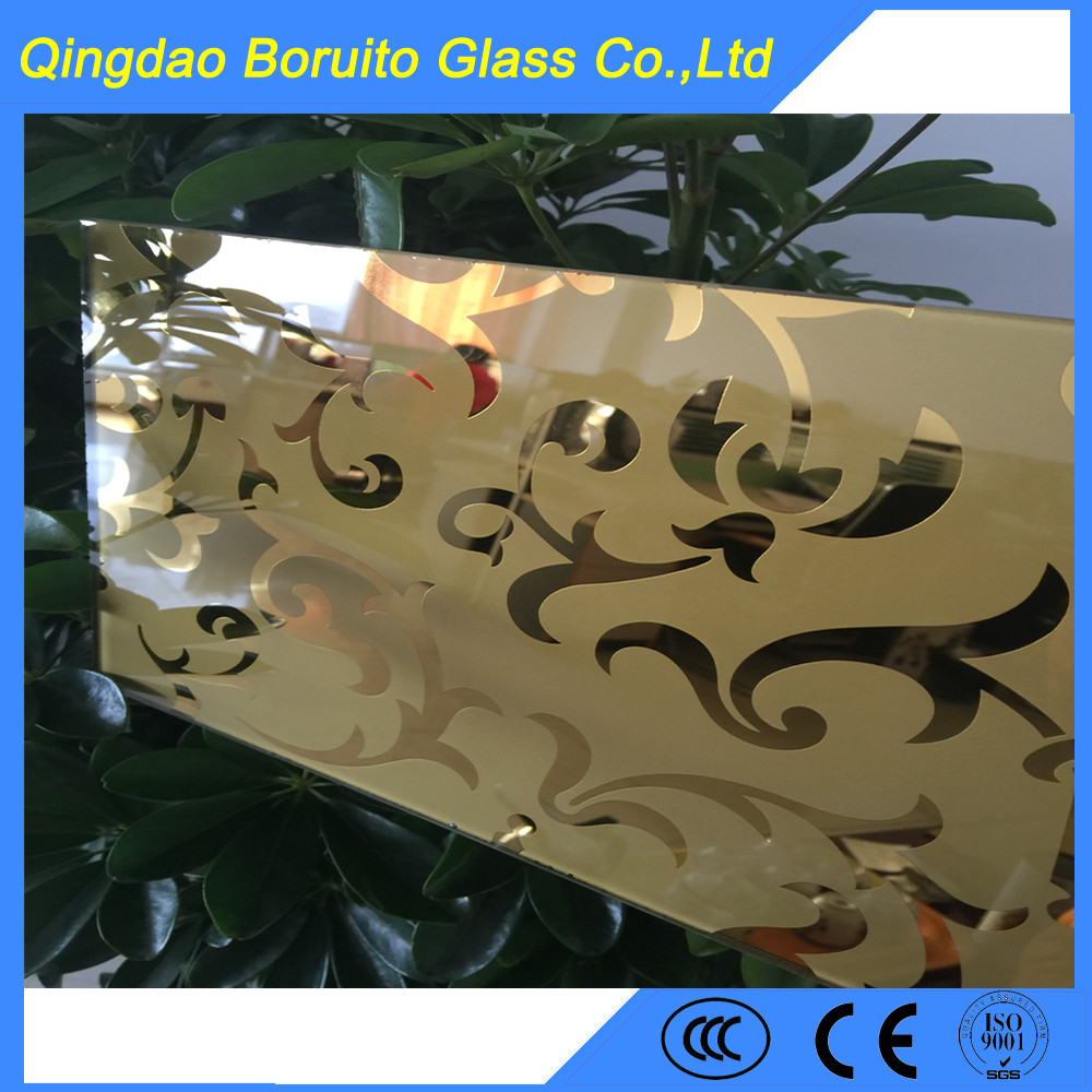 Hot sale 4mm decorative mirror for TV Background wall