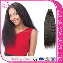 Hot selling 5A unprocessed 100% virgin brazilian remy human hair bulk,yaki braids