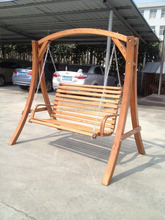 Good qiality outdoor garden wooden swing bench chair for garden park--ODF102