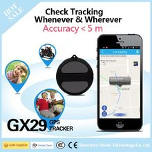 Yiwen Super Spy Mini Realtime GPS GSM GPRS Tracker GX29 with New Color Black Suitable for Cattle Tracking