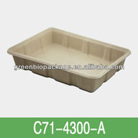 biodegradable and eco-friendly 500ml Bamboo Pulp Food Packing Tray